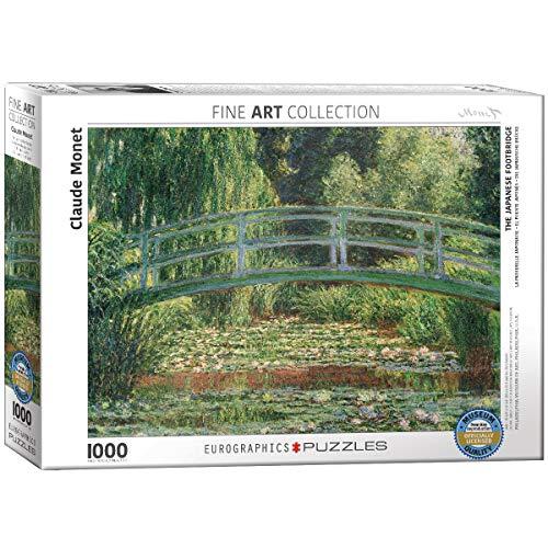 EuroGraphics Puzzle Claude Monet Die japanische Fußgängerbrücke (1000 Teile, Mehrfarbig)