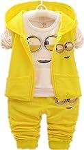 Newest 2018 Autumn Baby Girls Boys Minion Suits Infant/Newborn Clothes Sets Kids Vest+T Shirt+Pants 3 Pcs Sets Children Suits