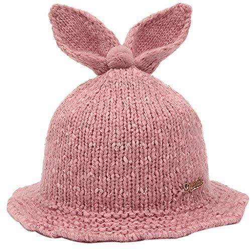 Chapeau de Filles, Hiver Chaud Bébé Mode Mignon Earmuffs Animaux Laine Châle Hemming Cap Photographie de Voyage pour Enfants de 6-36 Mois (48-52cm)