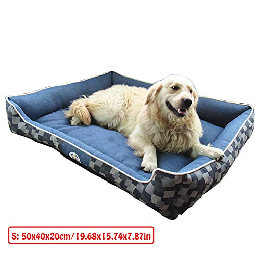 Dog Bed,Dog Basket,Comfortable Dog Sofa,Pet Cat Bed,Cosy Pet Bed In Bedroom, Living Room And Hallway,Easy To Clean,Washable,S