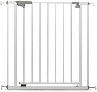Geuther 4712 WE Door Safety Gate for Clamping Metal No Drilling 73-81.5 cm White Protection for Children/Baby from Stairs ...