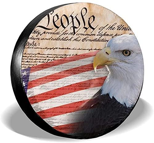 Constitution of America - Funda para llanta de repuesto,poliéster,universal,de 17 pulgadas,para rueda de repuesto,para remolque,RV,SUV,rueda de camión,camión,caravana,accesorios de remolque de viaje