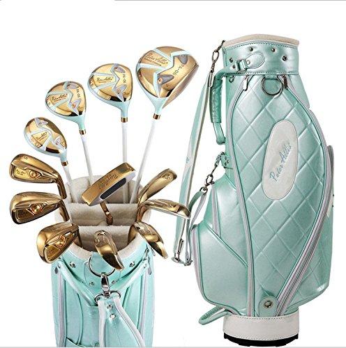 APA Damen Golfschläger-Set für Rechtshänder, inkl. Titan-Driver Hybrid, Eisen, Putter, Tasche