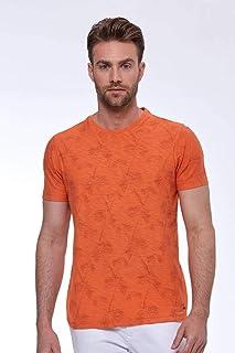 Baskılı Pima Pamuk Turuncu T-Shirt