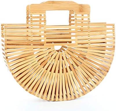 Miuco Bamboo Tote Bags Top Handle Handmade Handbags Beach Purses product image