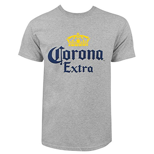 Corona Extra Firmenzeichen Männer Aschgraues T-Shirt Medium