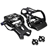 BV Bike Shimano SPD Compatible 9/16'' Pedals with Toe Clips