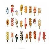 Hacoly 30 pièces Marque-pages barbecue aliments Marque-pages créatif Marque-page dessiné à la main pour les lecteurs...