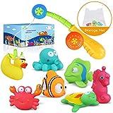 Lehoo Castle Badespielzeug Baby ab 1 Jahr, Badewanne Spielzeug mit Bad Spielzeug Organizer,...