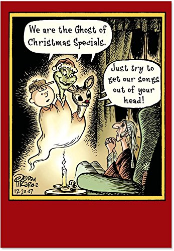 """5856 'Ghost of Christmas Specials' - Funny Merry Christmas Greeting Card with 5"""" x 7"""" Envelope by NobleWorks"""