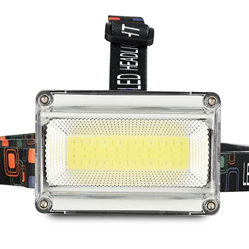 Scheinwerfer Die meisten Power COB LED Scheinwerfer Scheinwerfer DC wiederaufladbare Scheinwerfer Taschenlampe 3Mode 18650 Batterie Wasserdichte Jagd Angelbeleuchtung