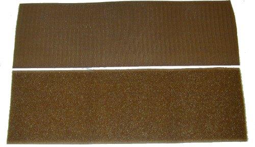 """4"""" Coyote Brown Sew On Hook and Loop - 12""""of Hook 12"""" of Loop Per Package"""