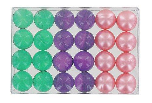 Caja de 24 perlas de fantasía para baño, trío de flores