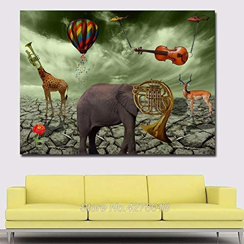 AQgyuh Puzzle 1000 Piezas Arte Abstracto de Salvador Dali Puzzle 1000 Piezas paisajes Juego de Habilidad para Toda la Familia, Colorido Juego de ubicación.50x75cm(20x30inch)