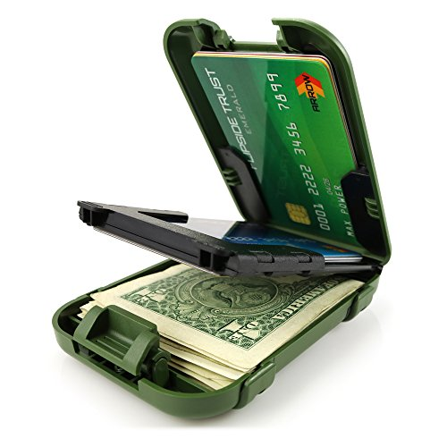 Flipside Wallets Flipside 4 RFID Blocking Wallet for Men Trooper Green Edition with Removable Money Clip - Slim, Secure and Crush Resistant