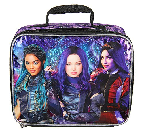 Disney Descendants Evie Mal Uma Character Insulated Lunch Box Tote Bag