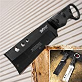 Tactical Knife Survival Knife Hunting Knife G10 Handle Full Tang Fixed Blade Knife Razor Sharp Edge Camping Accessories Camping Gear Survival Kit Survival Gear Tactical Gear 50513 (Black)