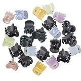 Hedmedum 24Pcs Mini Clips para Cabello Mini Pinzas del Pelo Horquillas Plásticas Agarres de 6 Garras del pelo Pinza Abrazadera para Las Mujeres
