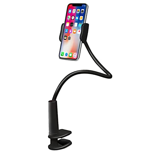 Aduro Solid-Grip Phone Holder for Desk - Adjustable Universal Gooseneck Smartphone Stand, with