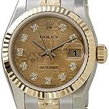 ROLEX(ロレックス) デイトジャスト 179173G シャンパン コンピューター 10Pダイヤ