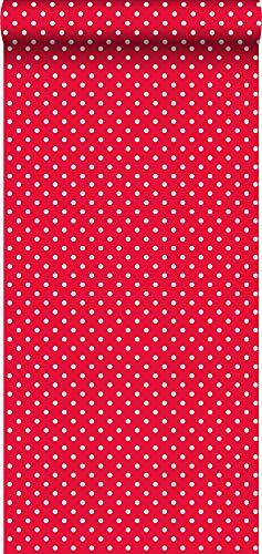 Tapete Punkte Rot und Weiß - 137004 - von ESTAhome.nl