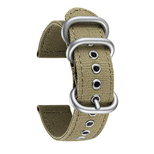 BINLUN Correa de Reloj de Tela Lona Compatibles con Samsung Galaxy Watch 42mm/46mm,Active 2,Samsung Gear S3 Classic/Frontier Smartwatch - Correas de Reloj 20mm 22mm Pulseras de Repuesto para Samsung