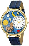Whimsical Watches Unisex G1810007 Leo Royal Blue Leather Watch