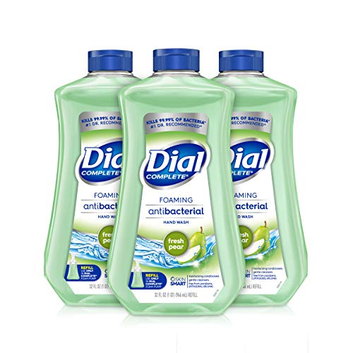 Dial Complete Antibacterial Foaming Hand Wash Refill, Fresh Pear, 32 Ounce (Pack of 3)
