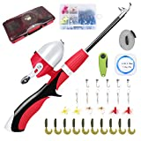 Lvaen Kids Fishing Pole Telescopic Fishing Pod All-in-One Youth Fishing Kit with Net, Travel Bag,...