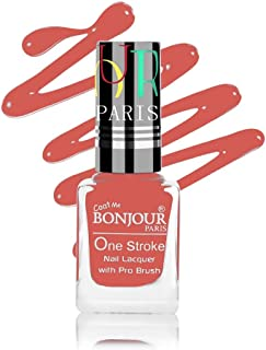 Coat Me Bonjour Paris Nail Polish with Quick Dry Formulation French Finish Shade (Beige, 9 ml)