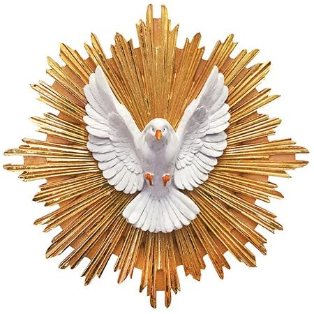 Amazon Com Design Toscano Pd3134 Holy Spirit Dove Of Peace Bonded Marble Resin Wall Sculpture White Home Kitchen