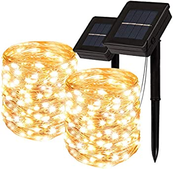 2-Pack Soarrucy Solar Powered String Lights with 8 Modes