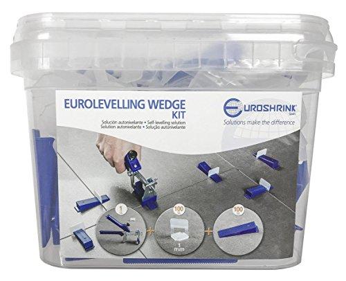 Euroshrink WEDGE KIT Sistema Autonivelante, Transparente/Azul/Blanco