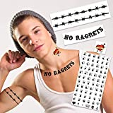 White Trash Party We're The Millers Temporary Tattoos   Halloween Costume Tattoo Kit   Skin-Safe   MADE IN USA   Removable