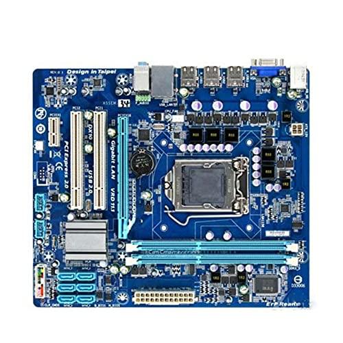 Fit for GIGABYTE GA-H55M-S2 H55 Socket LGA 1156 I3 I5 I7 DDR3 8G Micro-ATX H55M-S2 PC Placa Base de computadora(Color:A)