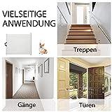 PawHut Hunde Türschutzgitter Treppenschutzgitter Treppenschutz Sicherheitstrennwand Hundegitter Trennwand Türschutz Rollo einrollbar - 3