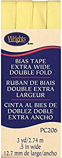 Wrights Double Fold Bias Tape, 1/2 by 3-Yard, Baby Maize