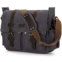 commercial Vintage S Zone Camera Messenger Bag Leather Canvas Shoulder Bag For DSLR Camera camera messenger bags