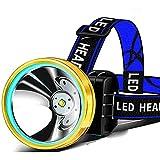 Smart Sensor T6 LED-Stirnlampe, wiederaufladbar, über USB wiederaufladbar, LED-Stirnlampe,...