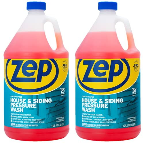 Product Image of the Zep House and Siding Pressure Wash Cleaner Concentrate 128 ounce ZUVWS128 (Pack of 2) Construction Grade