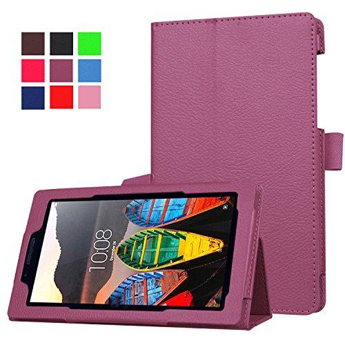 Funluna Lenovo Tab3 7 Essential Hülle Ultra Dünn & Leicht PU Leder Schutzhülle mit Standfunktion für Lenovo Tab3 7 Essential (7 Zoll IPS) Tablet 2016 Release