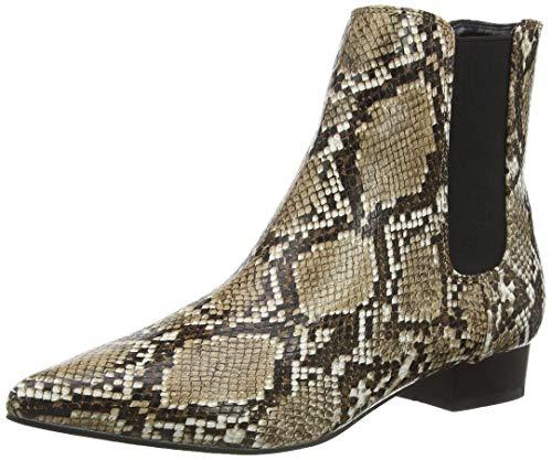 Dorothy Perkins Maisie Pixie Flat Ankle Boot-Snake, Bottines Femme, Beige Neutre 861, 37 EU