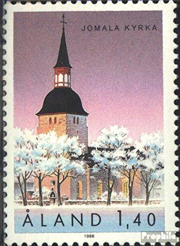 Prophila Collection Finnland - Aland 31 (kompl.Ausg.) 1988 Kirche von Jomala (Briefmarken für Sammler) Christentum