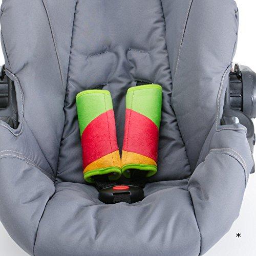 Gurtpolster Kuschelhase 6x15 cm • Auto Kinder Baby Babyschale Gurtschoner Sicherheitsgurt Kindergurt