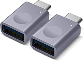 elago USB C to USB Adapter 3.0 (2 Pack) with Indicator LED for MacBook and More Type-C Devices (Dark Grey, 2PCS)