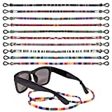 WOWOSS 10 Pieces Eyeglass Lanyards Colorful Glasses Strap Chain Eyewear Retainer Eyeglass Holder Straps Cords Safety Glasses String for Women and Men
