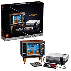 Trigger nostalgic memories as you build this wonderfully detailed LEGO brick Nintendo Entertainment System (71374) and interactive, 1980s-style television displaying the classic Super Mario Bros. game The TV has a handle-operated scrolling screen and...