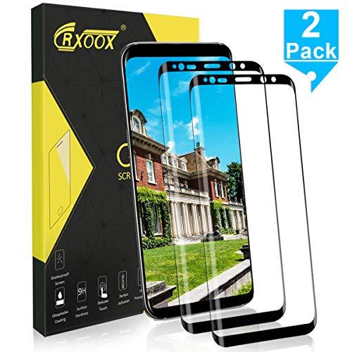 CRXOOX 2 Pezzi Vetro Temperato per Samsung Galaxy S8 Plus Pellicola Vetro 9H Durezza Anti-Graffo Senza Bolle Facile Installazione Pellicola Protettiva Proteggi Schermo per Samsung S8 Plus
