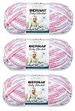 Bernat Baby Blanket Yarn (3-Pack) Pink Blue 161103-3305
