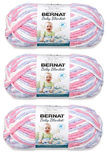 Bernat Baby Blanket Yarn (3-Pack) Pink Blue 161103-3305